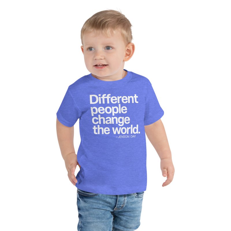 """Different People Change The World"" - TODDLER Short Sleeve Tee"