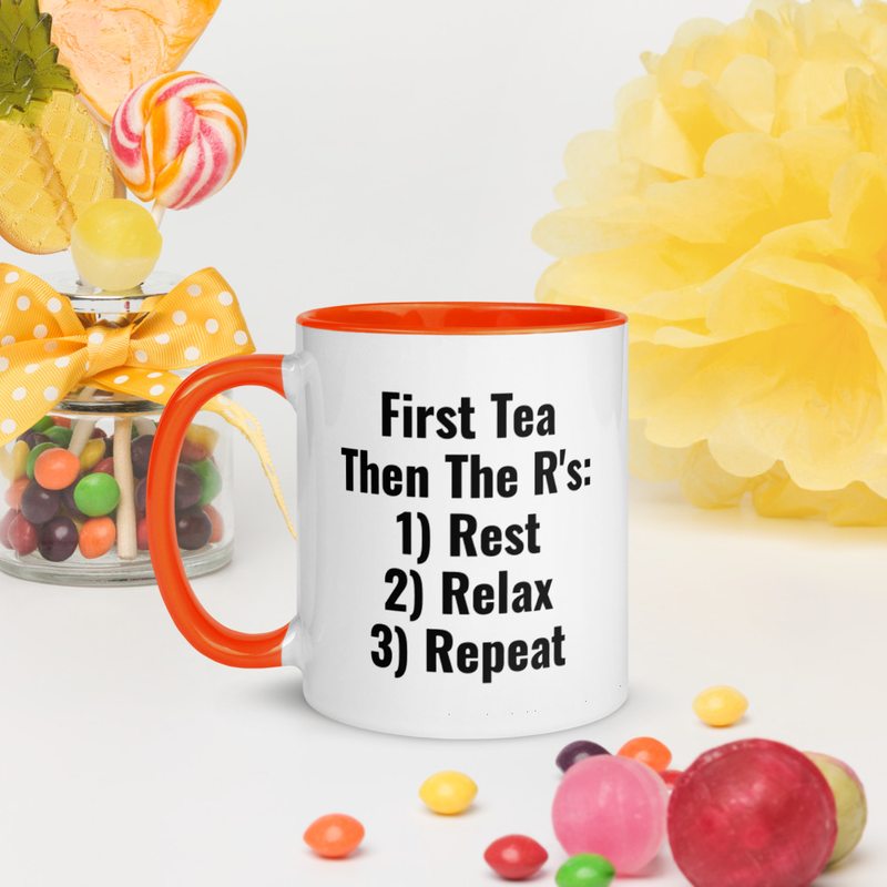 Tea Time - Mug with Color Inside