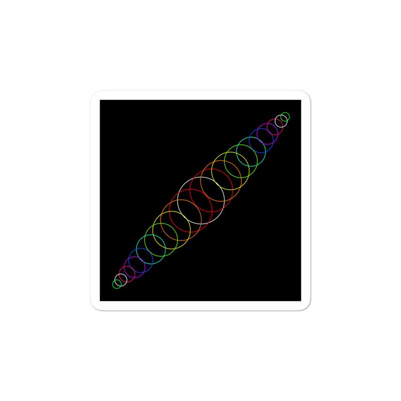 PRIDE artwork sticker