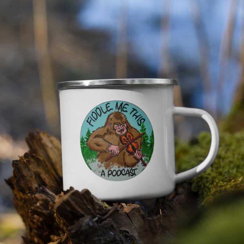 Fiddlin' Squatch Enamel Mug