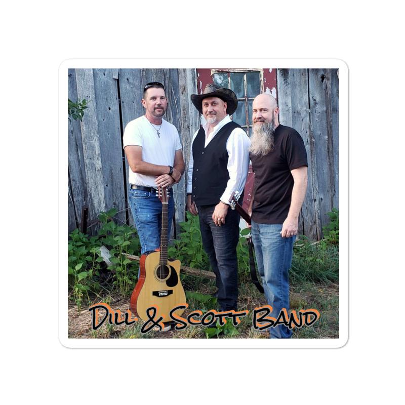 Dill & Scott Band (Bubble-free) Stickers