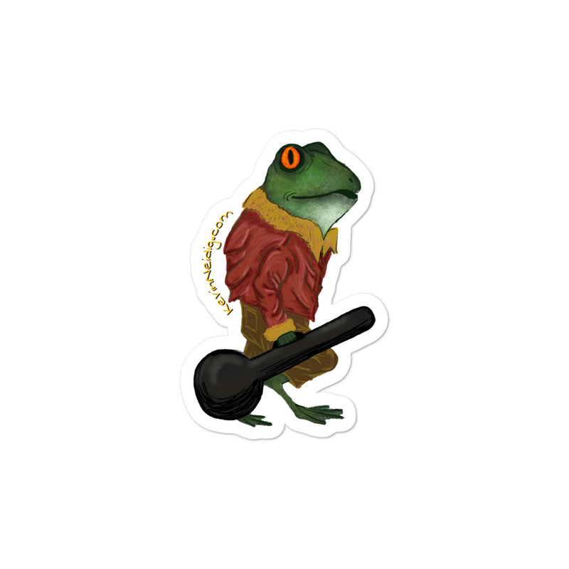 Frog Banjo sticker