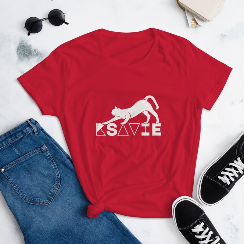 Camiseta de manga corta para mujer GATO