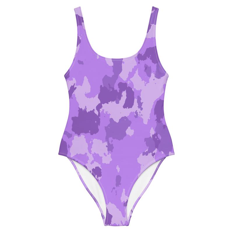 CDMG One-Piece Swimsuit Camo Purple