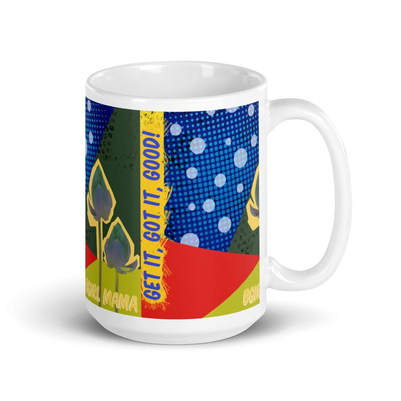 Get it, Got It, Good! Cover Art White glossy mug