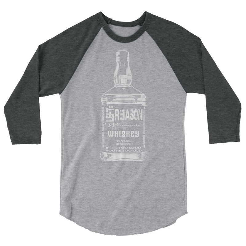 LOR WHISKEY BOTTLE 3/4 sleeve raglan shirt