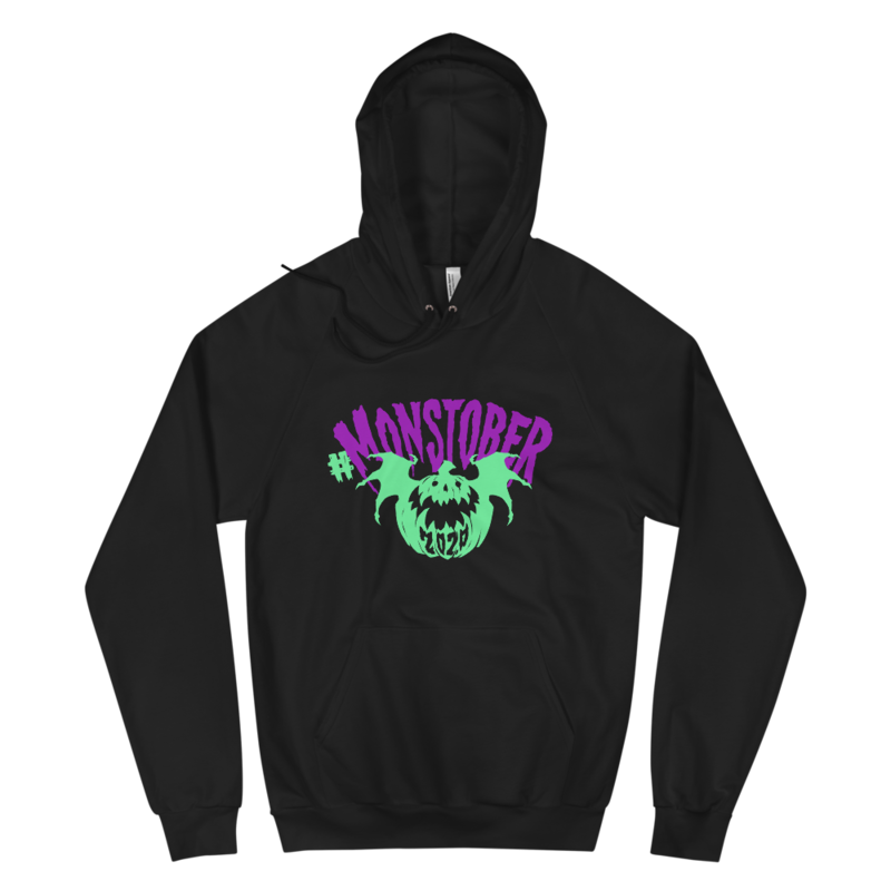 Monstober2020 Sculpt & Snuggle - American Apparel 5495W Unisex California Fleece Pullover Hoodie (Black)