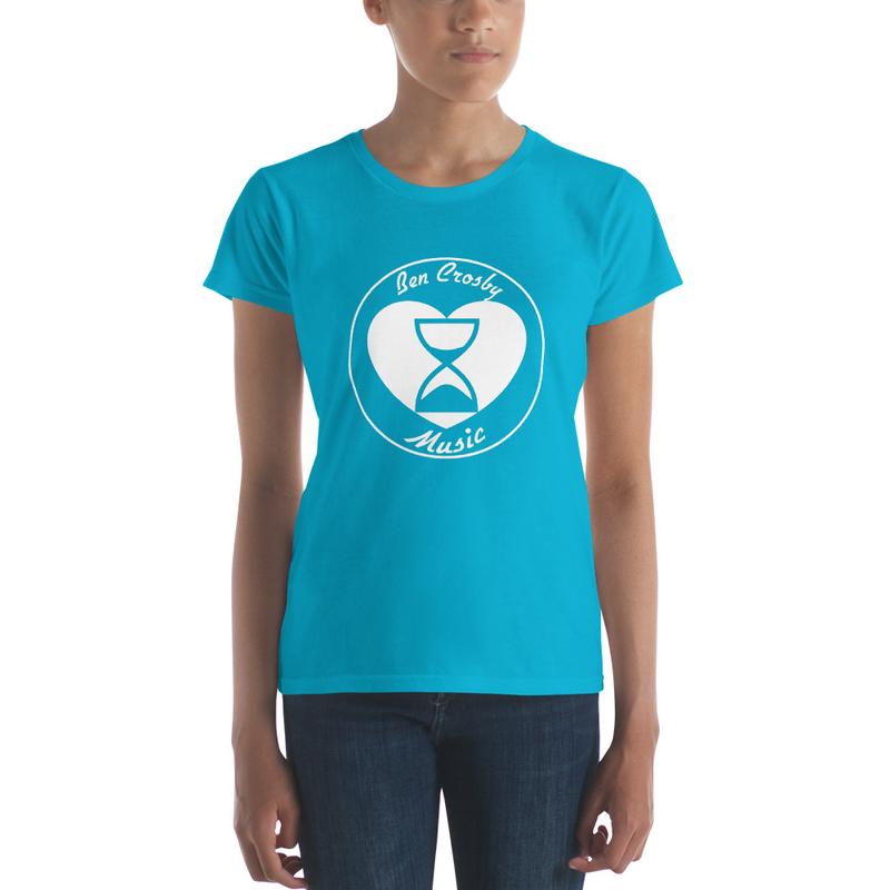 """Heart & Hourglass"" T-Shirt Ladies (7.95 Shipping)"