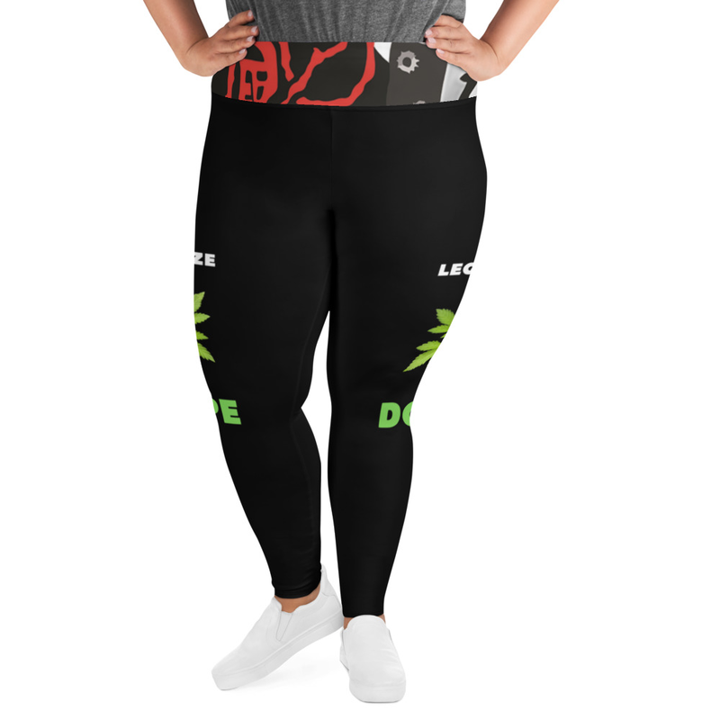 Legalize Dope All-Over Print Plus Size Leggings