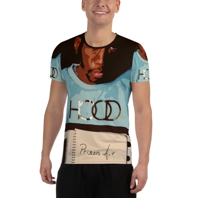 Prison Art All-Over Print Men's Athletic T-shirt