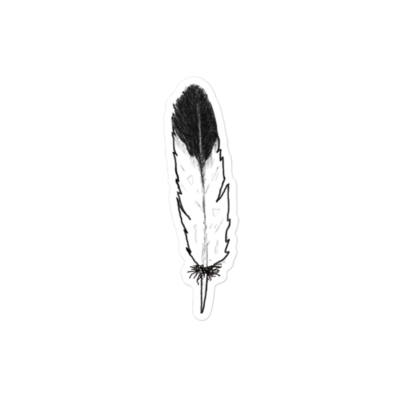 Eagle Feather-Dark Tip (Right Side) -  Bubble-free stickers