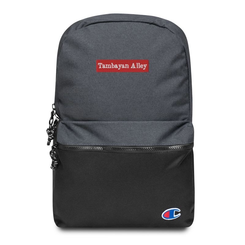 TAMBAYAN ALLEY Embroidered Champion Backpack