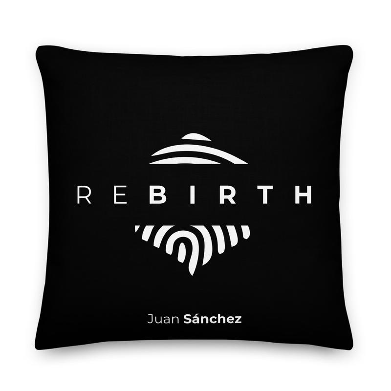 "Juan Sánchez ""Rebirth"" Album Pillow (Black)"