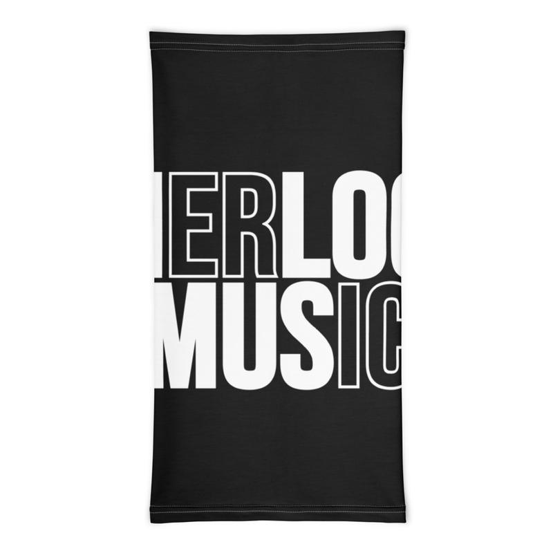 Sherlock Music Cutout - Neck Gaiter (Black)