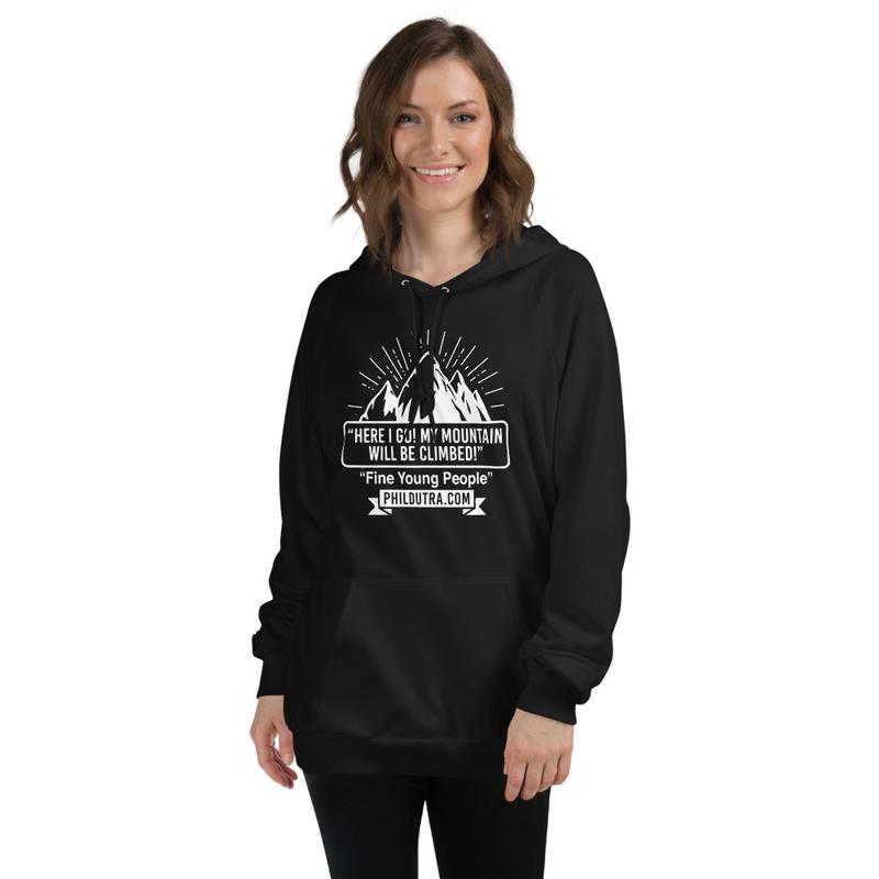 Unisex Fleece Hoodie with Mountain Logo