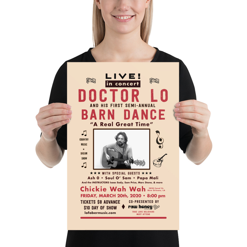 Doctor Lo Semi-Annual Barn Dance March 2020 Poster