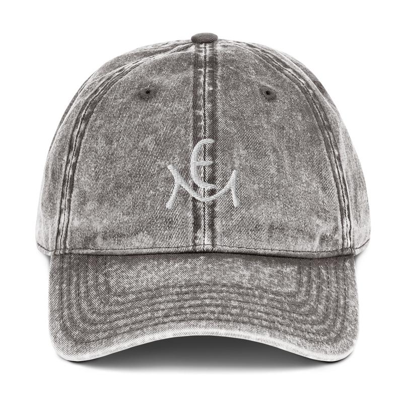 Vintage Cotton Twill Cap with Logo