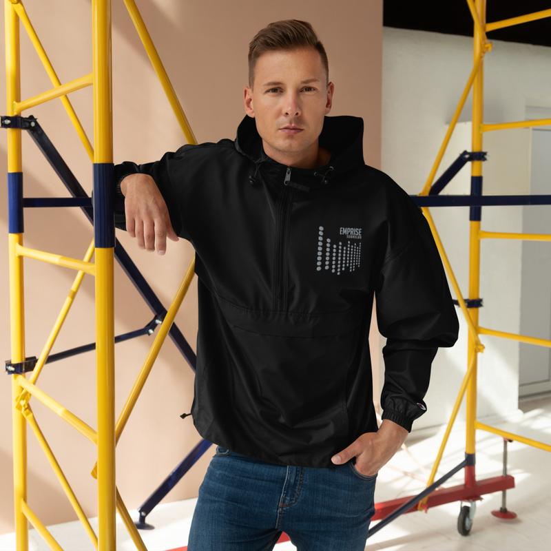 UNISEX Embroidered EMPRISE Waterproof Windbreaker Jacket