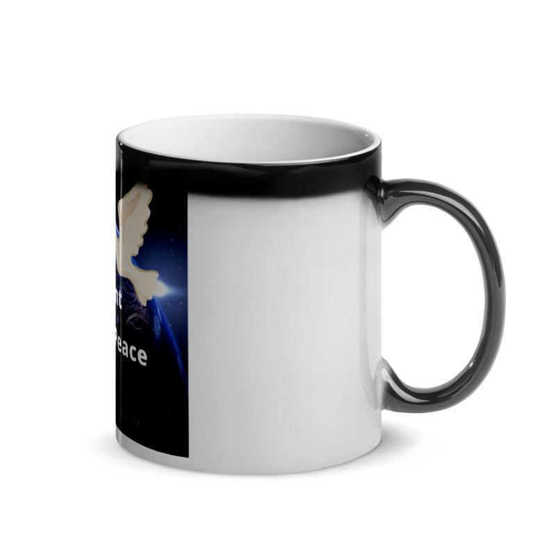 "Glossy Magic Mug ""Music For World Peace"""