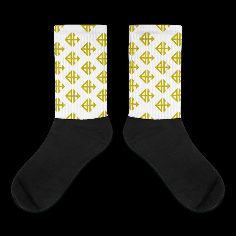 Gold Logo Socks