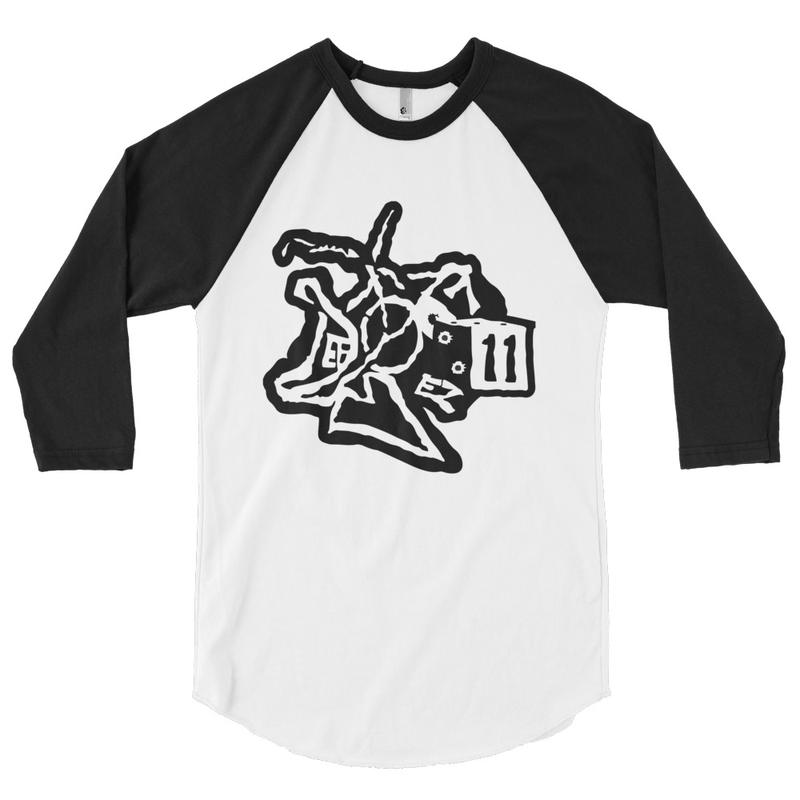 3/4 sleeve raglan shirt DefBoyProductions LLC