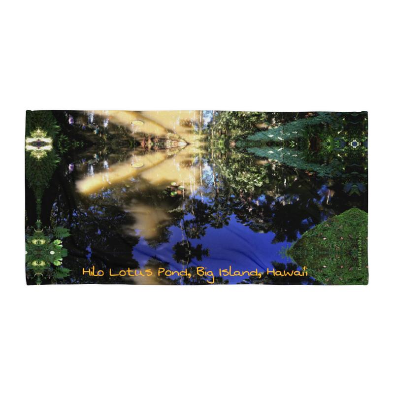 Hilo Lotus Pond - Beach Towel