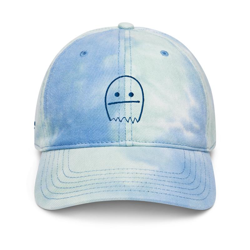Ghosts Blue Tie Dye Hat