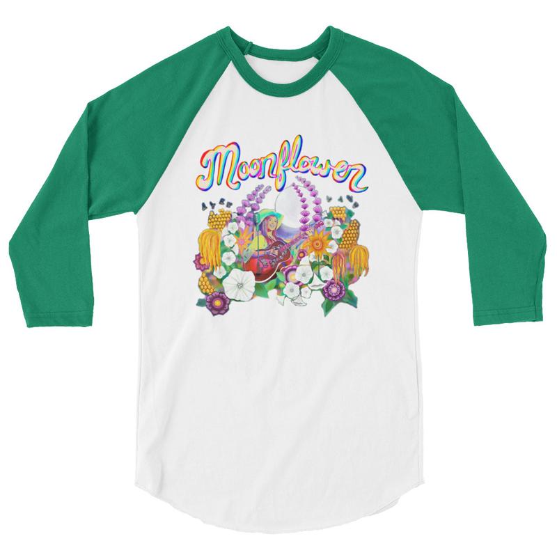 Moonflower Baseball T-Shirt