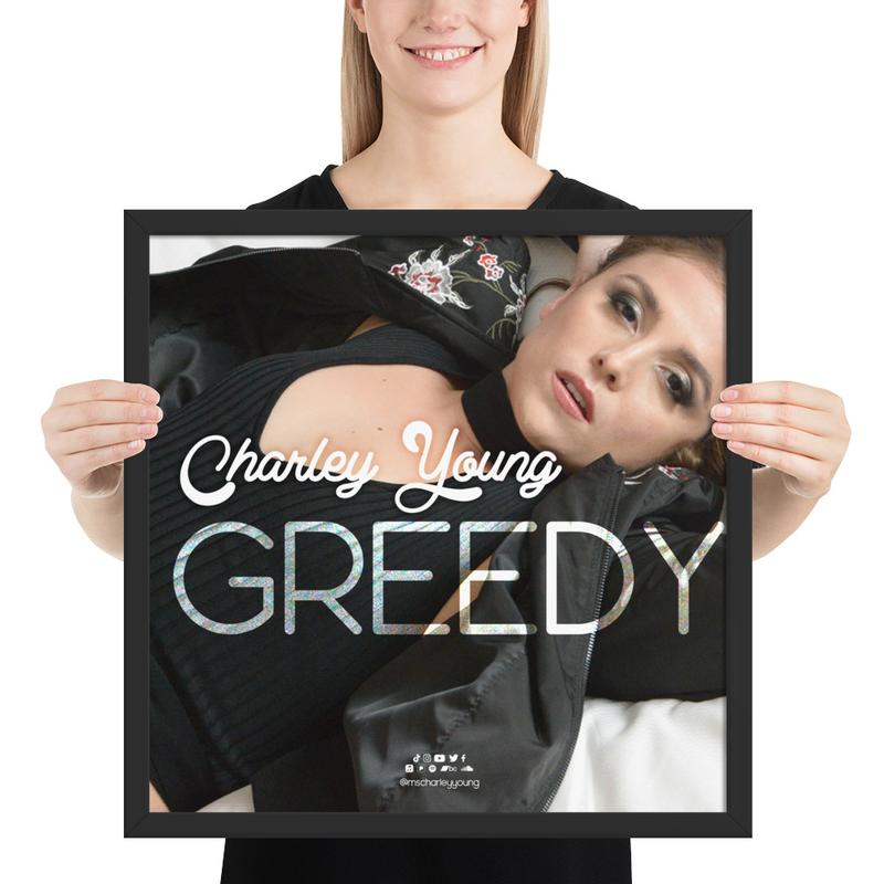 Greedy Framed Poster
