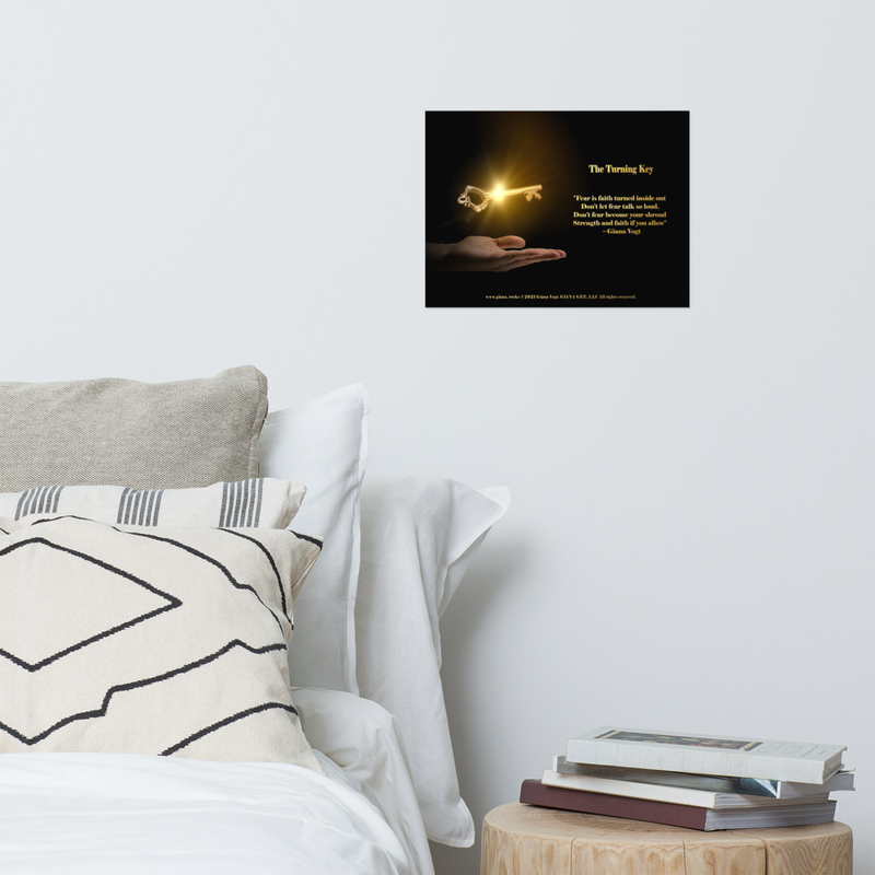 The Turning Key Photo paper poster