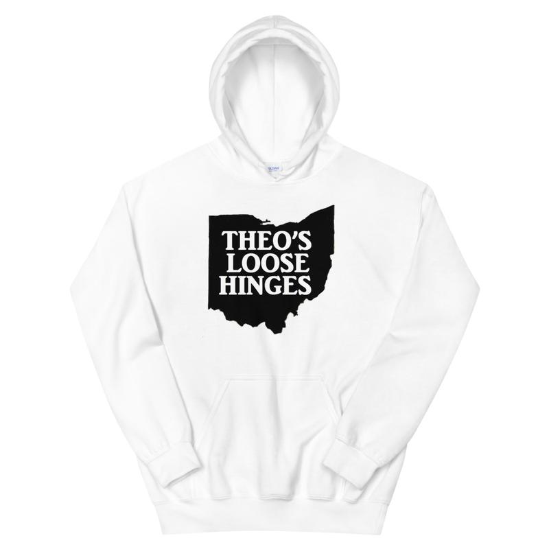 Unisex Hoodie Loose Hinges white Hoodie