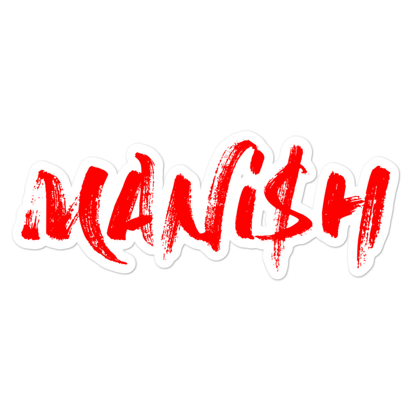 Bubble-free stickers - MANi$H Red