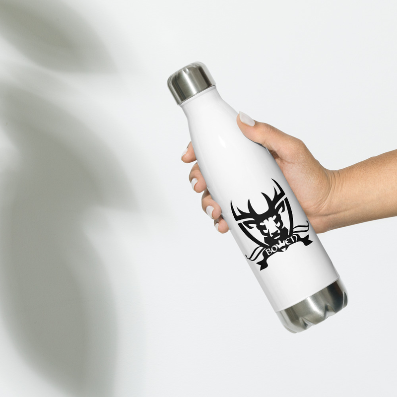 BOWEN Stag Logo Stainless Steel Water Bottle