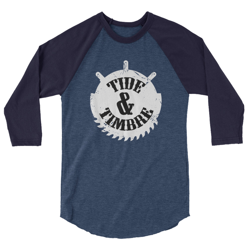 Tide & Timbre Logo 3/4 sleeve raglan shirt