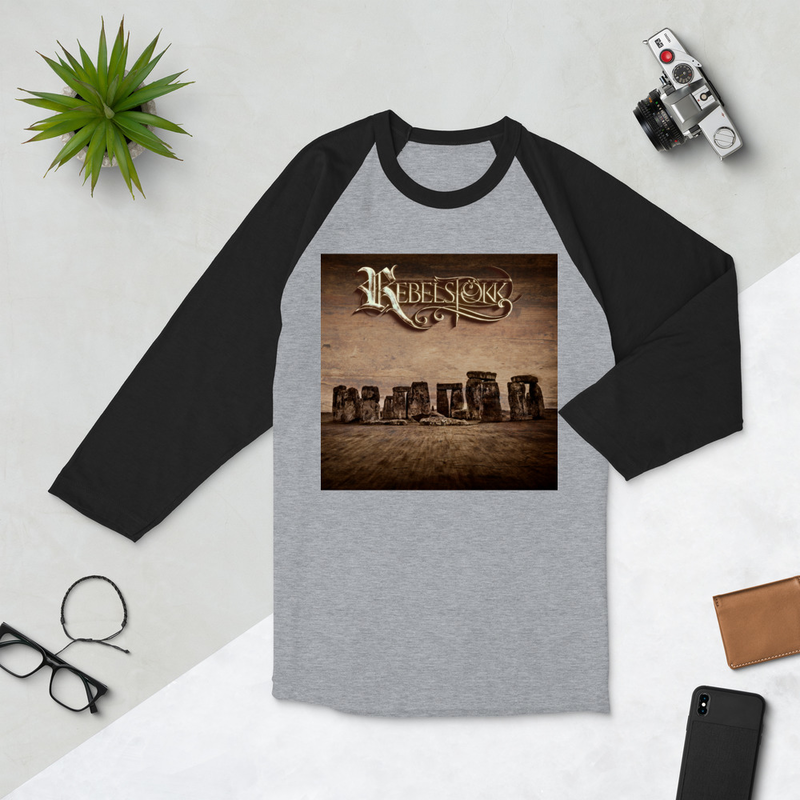 Rebelstökk 3/4 sleeve raglan shirt