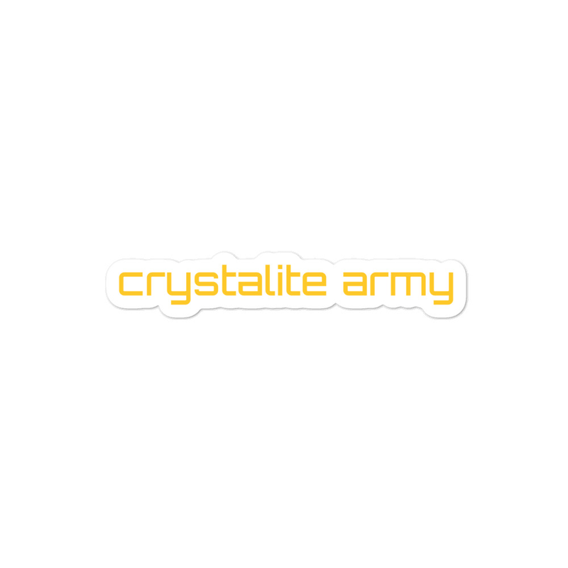 Bubble-free Stickers - Crystalite Army