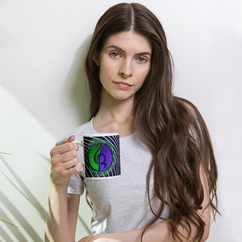 Lined Logo Mug