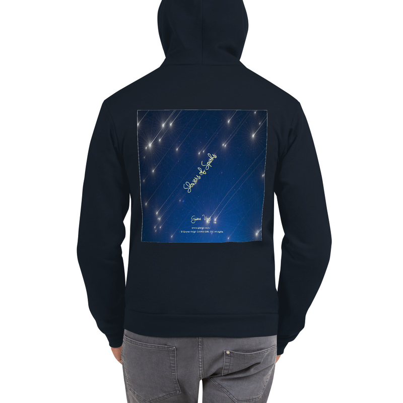 Showers Of Sparks Unisex Zip Front Hoodie