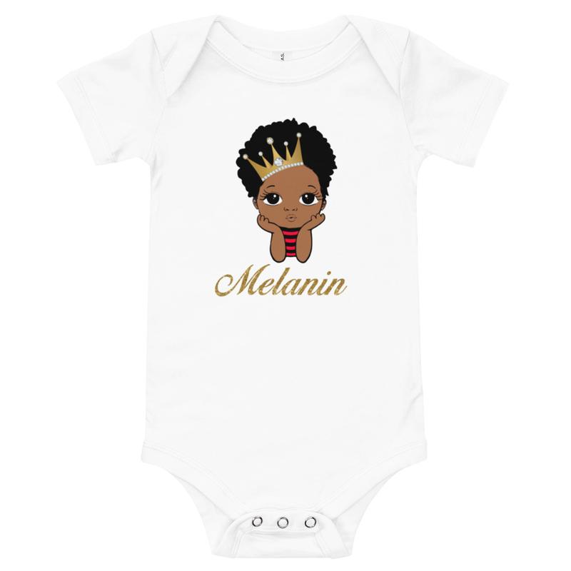 Prince Melanin Baby short sleeve one piece
