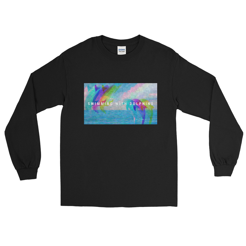 'Swimming With Dolphins' Classic Fit Long Sleeve Shirt