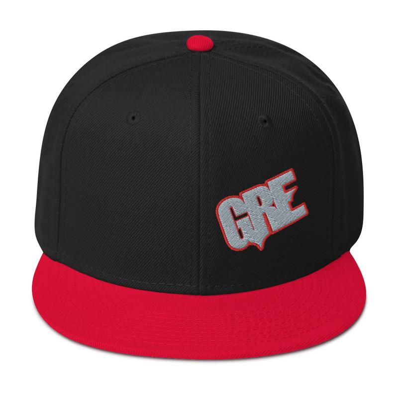 """""""GRE"""" Logo Snapback Hat (Red/Black)"""