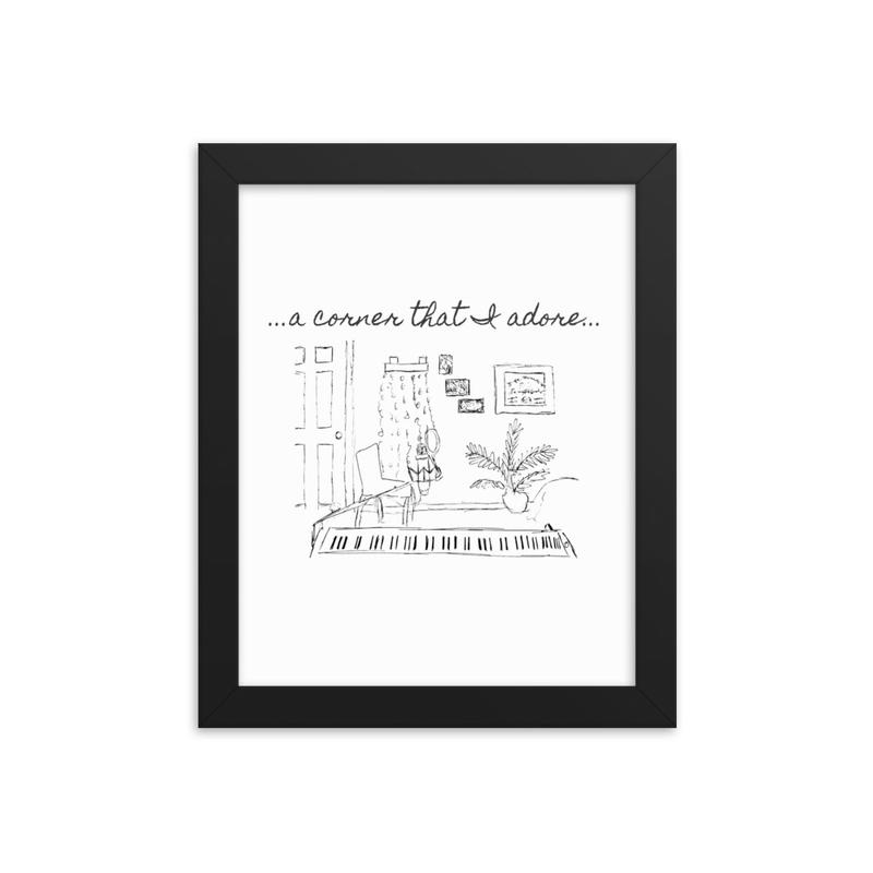 "Framed ""Corner that I Adore"" photo paper poster"