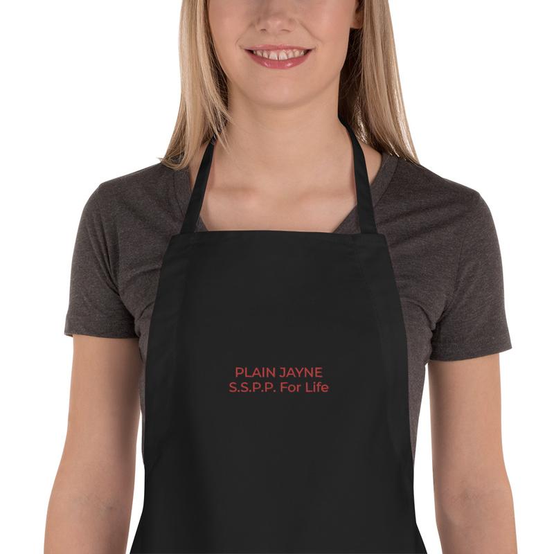 Plain Jayne Embroidered Apron