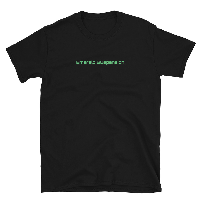 Basic T-Shirt with Emerald Suspension on Front