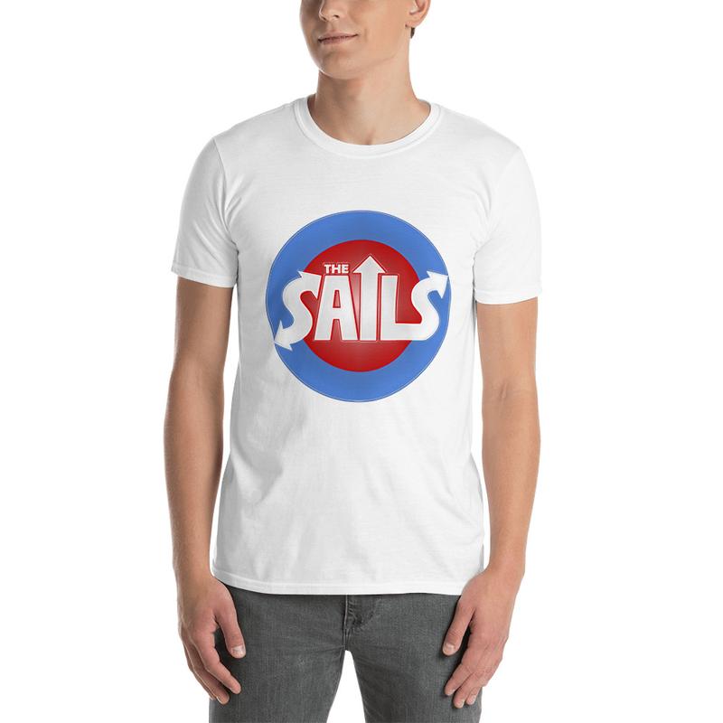 Short-Sleeve Unisex T-Shirt (Red/Blue Logo on Black or White)