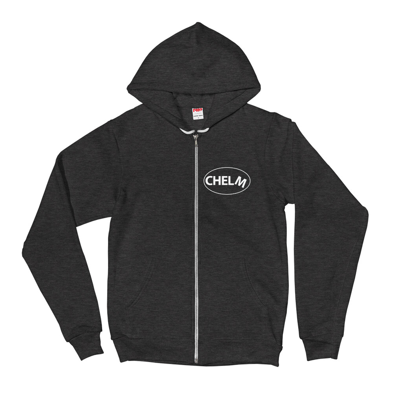 Chelm Hoodie Sweatshirt (with a village on the back)