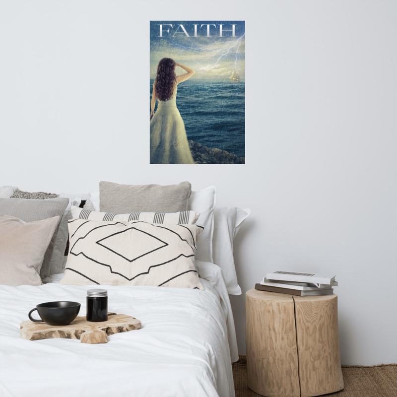 """""""Faith"""" Pray For Rain Poster"""