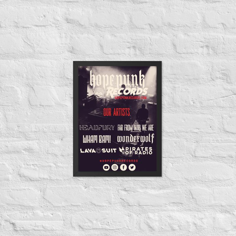Framed poster - HopePunk Artists