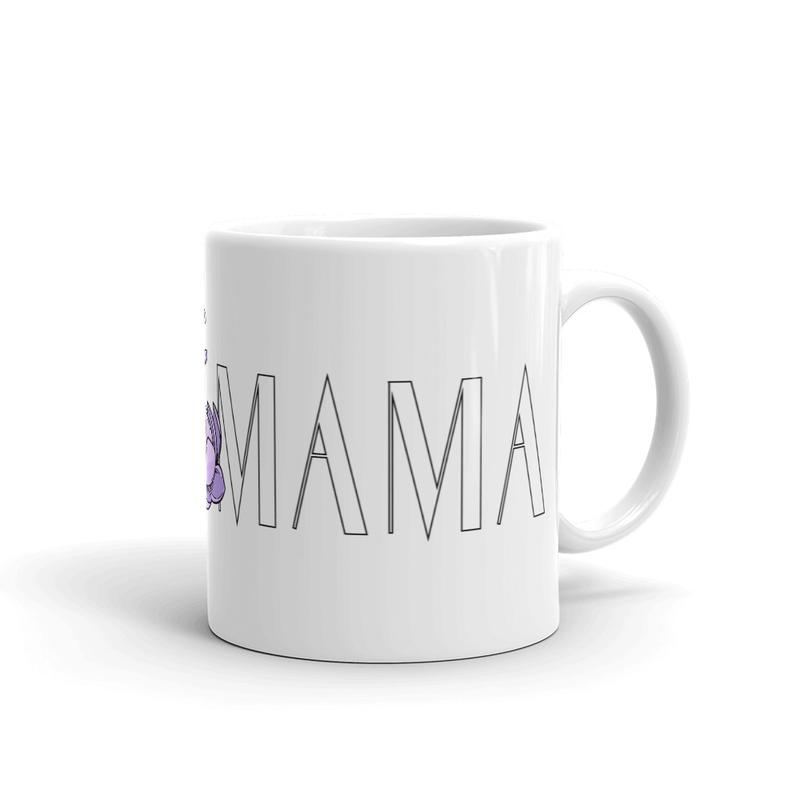 BGIRL MAMA Large Logo White glossy mug