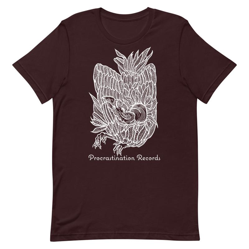 Procrastination Records - Vulture - White Ink Short-Sleeve Unisex T-Shirt